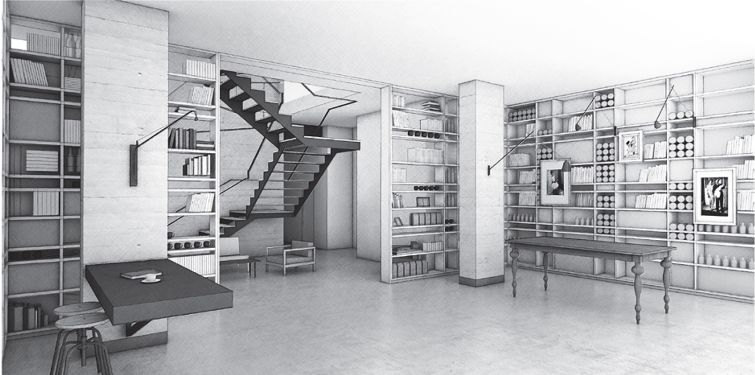 Rendering of the lobby at tommie hotel at 11 East 31st Street.