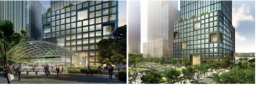 Renderings of 55 Hudson Yards.