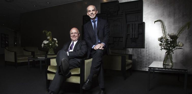 Marc Hurel and Ross  F. Moskowitz (Photo: Celeste Sloman/Commercial Observer).
