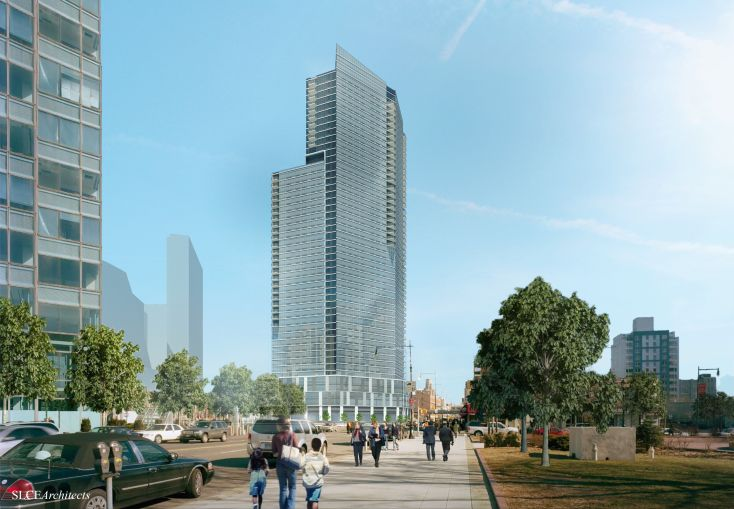 A Rendering of 43-25 Hunter Street (Image: SLCE Architects).