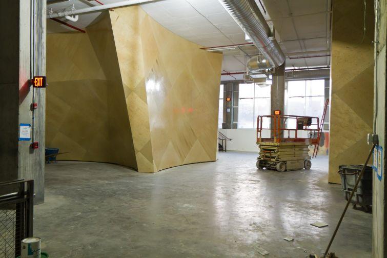 Brooklyn Boulders' under-construction space in Queens in 2015.