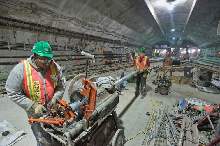 The new 7 Train station is slated to open on Sept. 13 in the Hudson Yards. (Photo: Courtesy Metropolitan Transportation Authority).