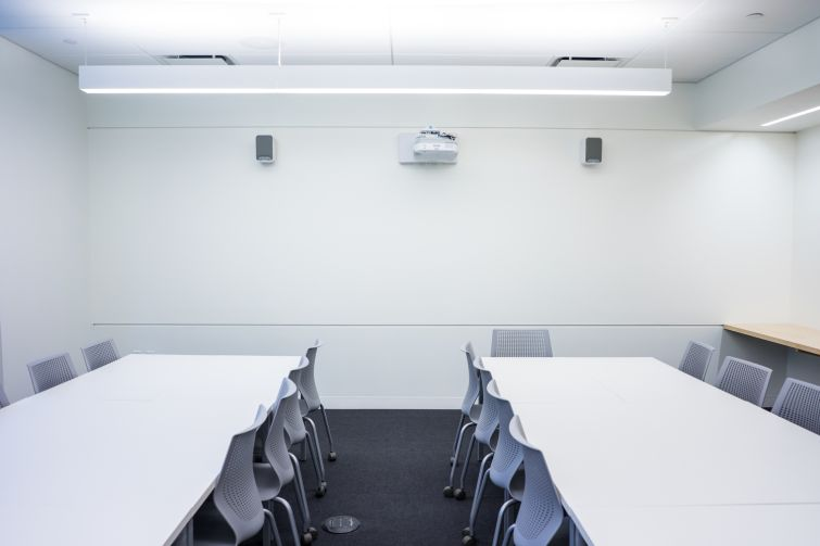 A view of one of the new upper school classrooms (Photo: Jake Naughton).