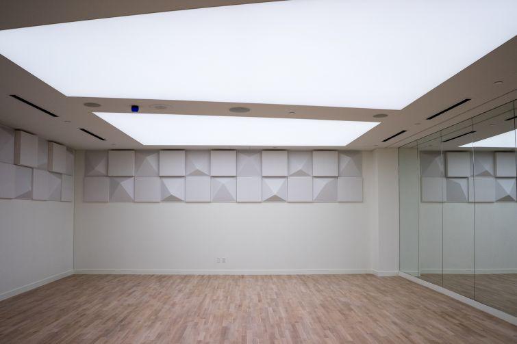 The dance room at Brooklyn Friends  (Photo: Jake Naughton).