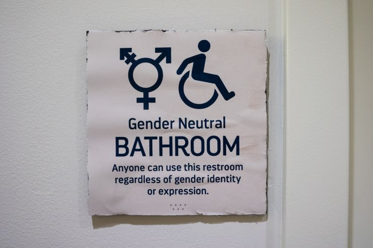 Students at Brooklyn Friends requested that some bathrooms be designated as gender neutral in the new building, and administrators were happy to oblige  (Photo: Jake Naughton).