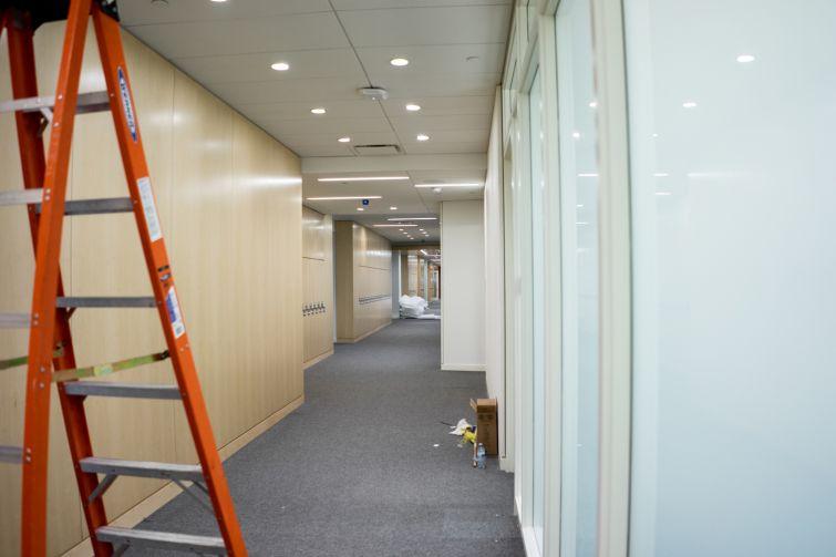 A hallway on the school's third floor (Photo: Jake Naughton).