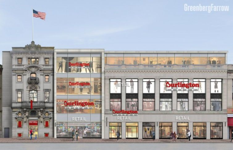 A RENDERING OF THE RETAIL CENTER THAT BURLINGTON COAT FACTORY WILL MOVE INTO.