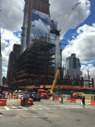 """""""Tenth Avenue was called 'Death Avenue,'"""" said Mr. Samuelian because the street-level freight line that went through the avenue was so deadly to pedestrians. Now one can see 10 Hudson Yards rising, which will be the first building to be finished next year, a 52-story, 1.7-million-square-foot office tower. It will be home to Coach, L'Oreal USA and SAP. """"It was 85 percent committed before a shovel hit the ground."""""""