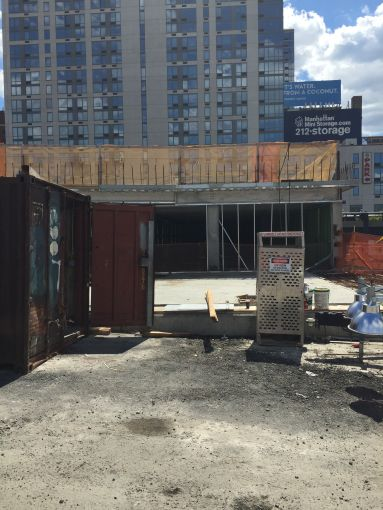 The site of Hudson Yard's future culture shed, which will include a retractable roof that can cover the plaza.