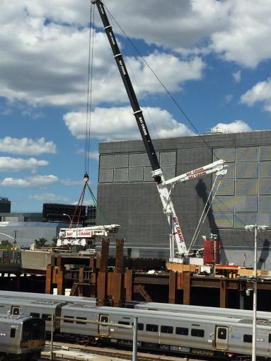 Apparently, this is the kind of project where the cranes need to lift other cranes.