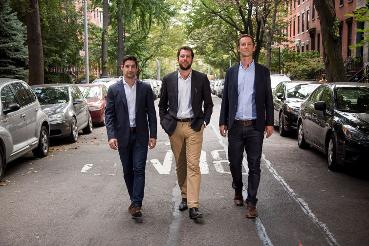 Avi Fisher, Brian Ezra, and Jesse Wark, principals of Avery Hall Investments (Photo: Michael Nagle).