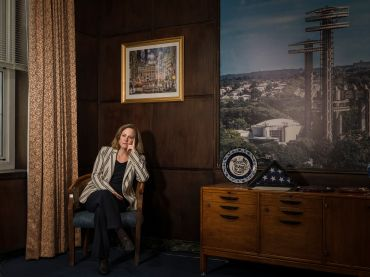 Queens Borough President Melinda Katz in her office (Photo: Sasha Maslov/For Commercial Observer).