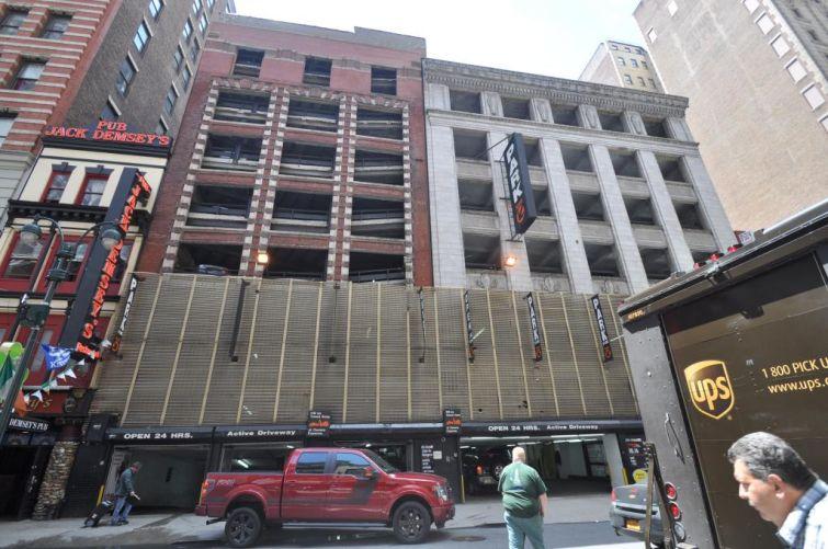 38-46 West 33rd Street before excavation.