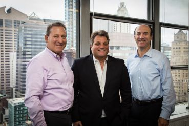 Ken Horn (left) and Joel Breitkopf (right) of Alchemy Properties are partnering with Brian Ray of ABR Parnters (center) for an acquisitions venture (Photo: Kaitlyn Flannagan for Commercial Observer).