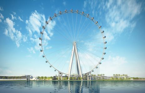 A rendering of the New York Wheel.