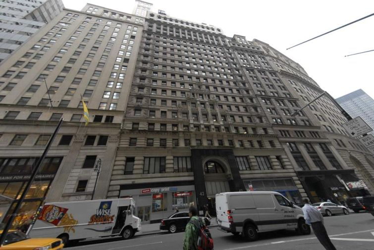The Lower Manhattan building at 42 Broadway.