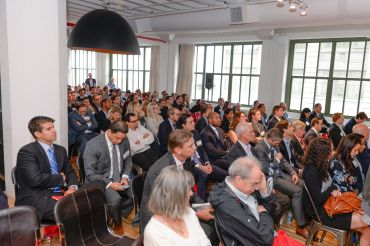 More than 200 attendees ventured to Industry City for Wednesday's breakfast.