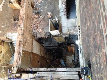The collapsed site at 25 West 38th Street (Photo: FDNY/Twitter).
