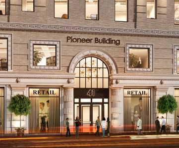 Rendering of the Pioneer Building at 41 Flatbush Avenue in Downtown Brooklyn.