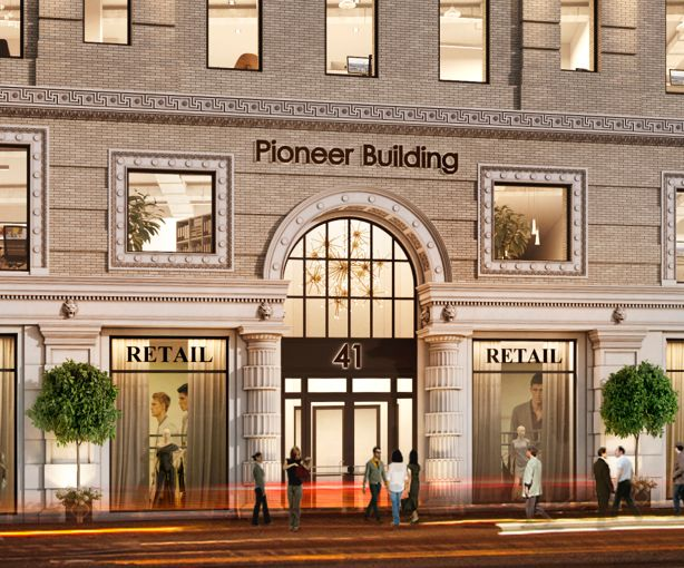 Rendering of the Pioneer Building at 41 Flatbush Avenue in Downtown Brooklyn. Photo: Courtesy Real Estate Arts