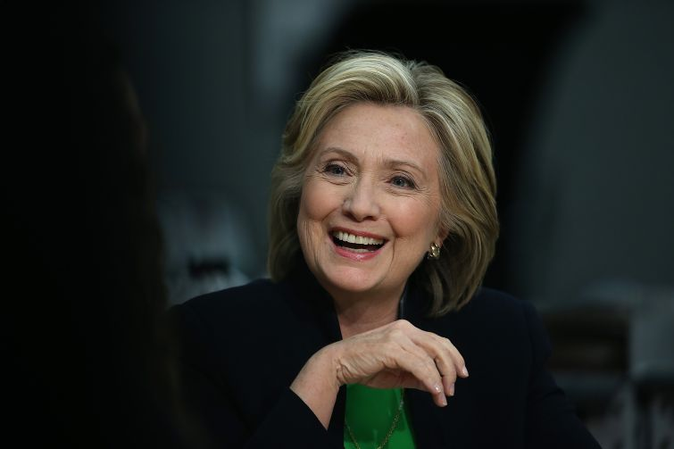 Hillary Clinton wins a plurality of developers.   (Photo by Justin Sullivan/Getty Images)