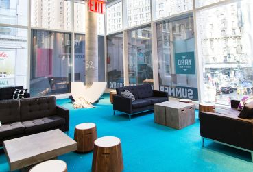 The Yard at Herald Square  is the latest office for the coworking space provider (Photo: Kaitlyn Flannagan for Commercial Observer).