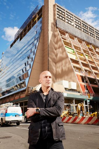 Joshua Prince Ramus of REX Architecture stands in front of 450 West 33rd Street (Photo: Yvonne Albinowski/ For Commercial Observer).