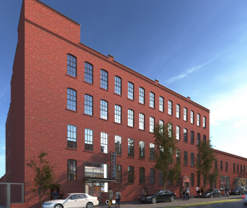Rendering of the renovated 68-80 Third Street.