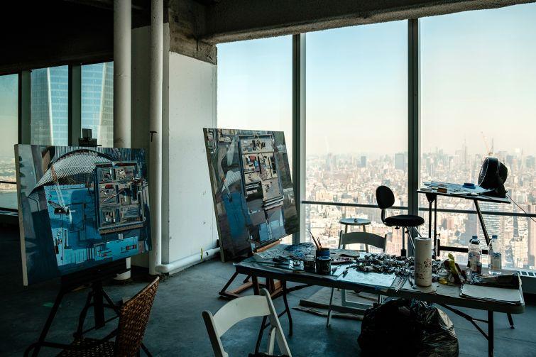 Mr. Stone's studio (Photo: Chris Sorenson for Commercial Observer).