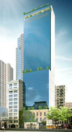 Rendering of the Marriott hotel at 112 West 25th Street. Image: Lam Generation