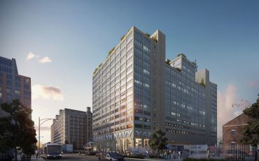 A rendering of Building 77 at the Brooklyn Navy Yard