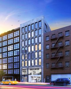 Rendering of 260 Bowery.