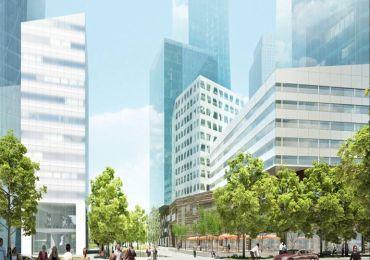 Rendering of Extell's Riverside Center development.