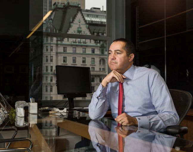 Don Peebles in his office at 745 Fifth Avenue (Photo: Sasha Maslov/ for Commercial Observer).