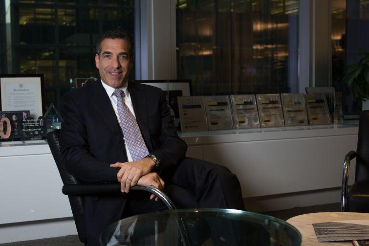Robert Martin in the JLL offices in Manhattan (Photo: Aaron Adler/ for Observer).