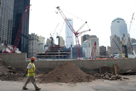 A Lower Manhattan construction site. Photo: DON EMMERT/AFP/Getty Images