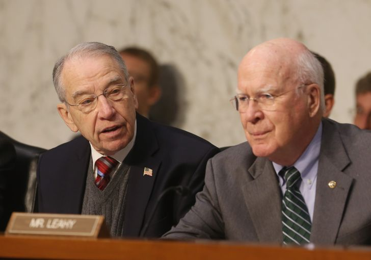 Senators Chuck Grassley and Patrick Leahy (Photo: Mark Wilson/Getty Images).