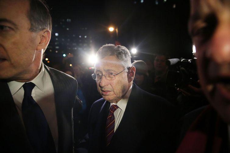 Former New York Assembly Speaker Sheldon Silver leaves a federal court in Lower Manhattan on November 30, 2015 in New York City (Photo by Spencer Platt/Getty Images).