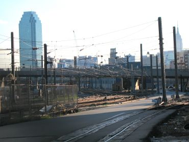 Sunnyside Yards, which borders Tishman Speyer's and H&R Real Estate Investment Trust's development site.