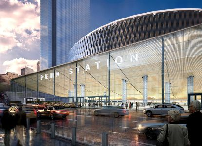 A rendering of the new entrance to Penn Station (Photo: Governer Cuomo's Office/Flickr).