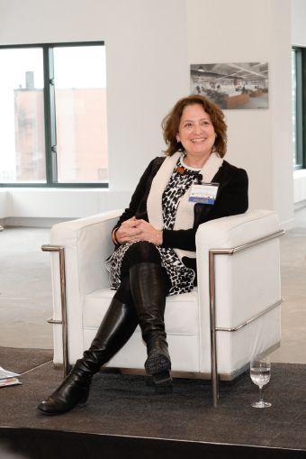 Ellen Albert of Viacom speaks on the panel (Photo: Presley Ann/PMC).