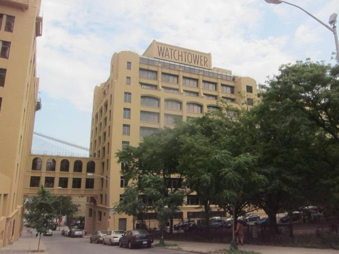 The Jehovah's Witnesses' Watchtower Building in Brooklyn Heights.