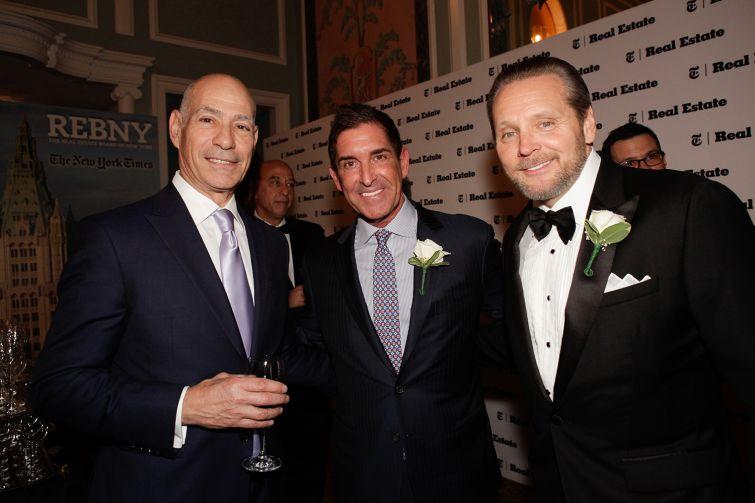 Charles Bendit of Taconic Investment Partners, left, State Sen. Jeffrey Klein, center, and Robert Knakal of Cushman & Wakefield.