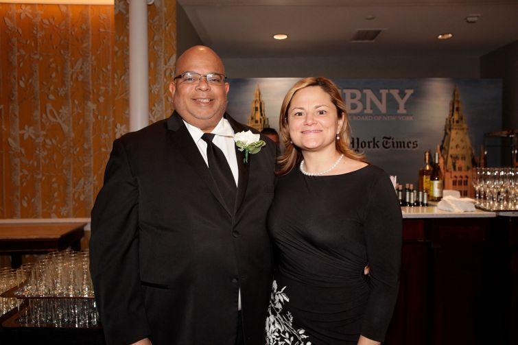 REBNY President John Banks, left, and City Council Speaker Melissa Mark-Viverito.