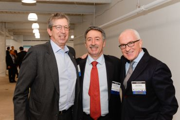 Mr. Rudin, left, with moderator Jonathan Mechanic of Fried Frank, center, Mr. Behler (Photo: Presley Ann/PMC).