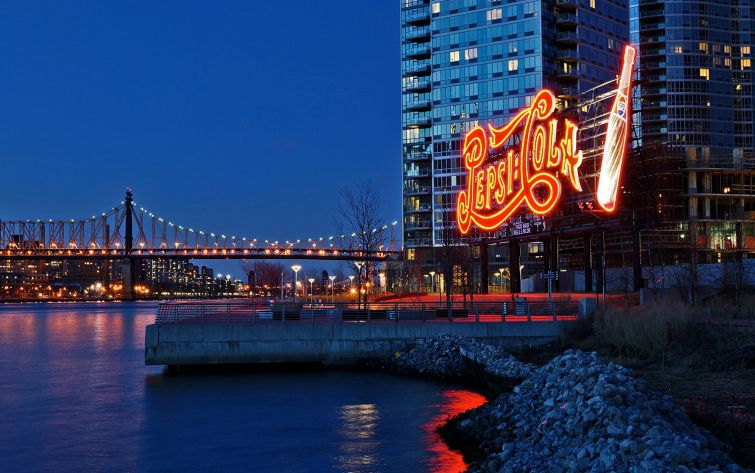 Long Island City's Pepsi-Cola sign was in the landmarking backlog (Photo: Dianne Rosete/Flickr).