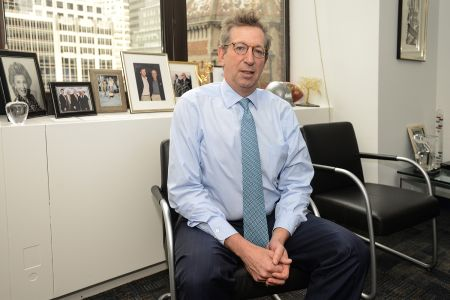 Bill Rudin stands for a photo at his office at 560 Lexington Ave. on Tuesday March 10th , 2015. Photo by Kristy Leibowitz for Commercial Observer