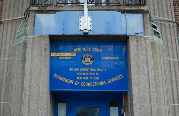 The Bayview Correctional Facility signs will soon be coming down at 550 West 20th Street as the prison becomes a center for nonprofits (Photo: Molly Stromoski/for Commercial Observer).