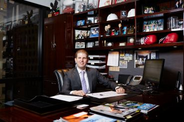 Eric Trump at his office in Trump Tower (Photo: Yvonne Albinowski/for Commercial Observer).
