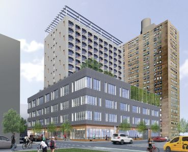 A rendering of Site 6 at Essex Crossing (Image: Dattner Architects).